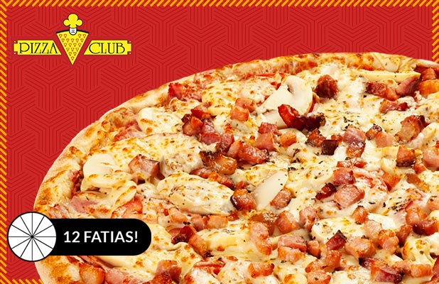 Qualquer Pizza 12 Fatias p/ Consumo no Local na Quintino