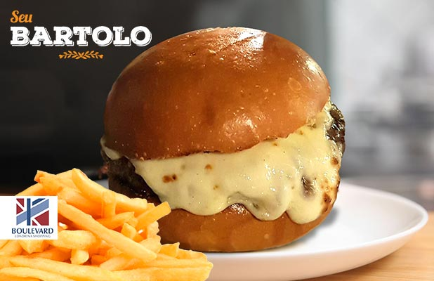 Burger do Papito com Fritas (Shop. Boulevard)