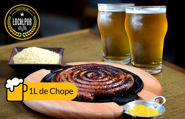 1 Litro de Chope Session IPA + Linguiça Artesanal