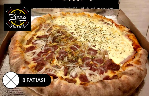 Pizza Brotinho Gigante 8 Fatias p/ Delivery